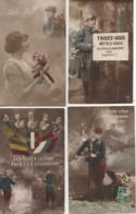 Patriotisme Beau LOT De 4 Cartes (6) - Patriottiche