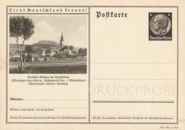 Allemagne Entier Postal Illustré Essai D'impression - Ganzsachen