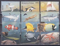 Tr_ Komoren Comores 1998 - Mi.Nr. 1246 - 1257 - Postfrisch MNH - Tiere Animals Fische Fishes - Poissons