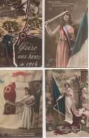 Patriotisme Beau LOT De 4 Cartes (9) - Patriottiche