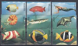 Tr_ Komoren Comores 1998 - Mi.Nr. 1228 - 1236 - Postfrisch MNH - Tiere Animals Fische Fishes - Poissons