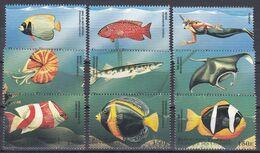 Komoren Comores 1998 - Mi.Nr. 1228 - 1236 - Postfrisch MNH - Tiere Animals Fische Fishes - Peces