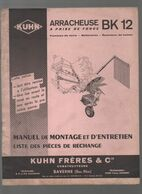 (matériel Agricole) Saverne (67 Bas Rhin)  Manuel ARRACHEUSE BK12  (CAT 1979) - Advertising