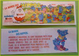 KINDER BPZ SERIE HIPPOS SPORTIFS FRANCE 1992 - Istruzioni