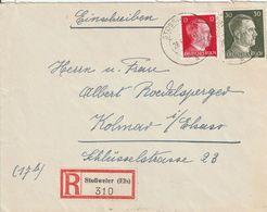 France Alsace Lettre Recommandée Stossweier 1944 - Alsace Lorraine