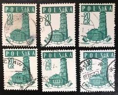 Polska - Poland - P2/11 - (°)used - 1958 - Michel Nr. 1046 - Stadhuis - 6X - Vrac (max 999 Timbres)