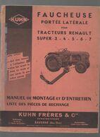 (matériel Agricole) Saverne (67 Bas Rhin)  Manuel FAUCHEUSE Popr Tracteurs RENAULT  Super 3 à 7  (CAT 1980) - Advertising