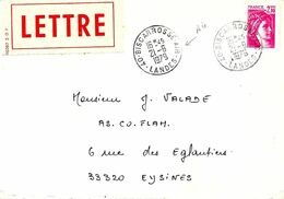 Lettre Cachet Manuel Type A9, 40-Biscarrosse-Air 2I-6 I979, Circulaire, Agence Postale Air - Marcofilia (sobres)