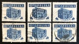 Polska - Poland - P2/11 - (°)used - 1958 - Michel Nr. 1048 - Stadhuis - 6X - Vrac (max 999 Timbres)