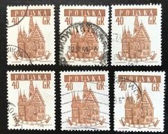 Polska - Poland - P2/11 - (°)used - 1958 - Michel Nr. 1047 - Stadhuis - 6X - Vrac (max 999 Timbres)
