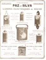 "PUB LAMPE DE POCHE GUERRE 14/18    "" PAZ & SILVA  ""   1917 ( 2 ) - 1914-18"