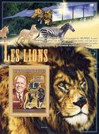 Guinea 2008, Animals, Wild Cats, Lion Club, Satellite, BF - Rotary, Lions Club