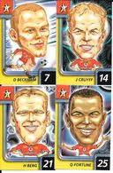 AH21 - RUGLYS CARDS SERIE 1004.C - MANCHESTER UNITED - BERG FORTUNE CRUYFF BECKHAM - Trading Cards