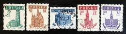 Polska - Poland - P2/11 - (°)used - 1958 - Michel Nr. 1046#1050 - Stadhuis - 1944-.... Republic