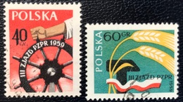 Polska - Poland - P2/11 - (°)used - 1958 - Michel Nr. 1090#1091 - 3e Partijdag Van De PZPR - 1944-.... Republic
