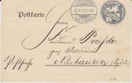Deutsches Reich Postsache Siegelstempel Lichtenberg Sachsen Kte 1910 - Storia Postale