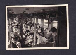 Photo Originale Vintage Snapshot Sortie Etudiants ICN Institut Commercial De Nancy Train Autorail 42889 - Trains