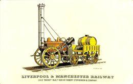 030 050 - CPSM - Thèmes - Locomotive - Liverpool & Manchester Railway - Trains