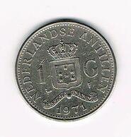 ***  NEDERLANDSE ANTILLEN   1  GULDEN  1971  JULIANA - Antillas Nerlandesas