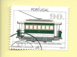TIMBRES - STAMPS - BRIEFMARKEN - SELLOS - PORTUGAL - 1995 - 100 ANS DE ÉLECTRIQUE AU PORTUGAL - TIMBRE OBLITÉRÉ - Tramways