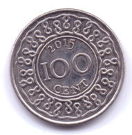 SURINAME 2015: 100 Cents, KM 23 - Suriname 1975 - ...