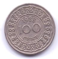 SURINAME 1988: 100 Cents, KM 23 - Suriname 1975 - ...