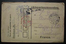 Camp De Meschede 1916 Kriegsgefangenensendung  Pour Cosne Sur L'oeil Veuve Balladier Boulanger Avec Correspondance - Duitsland