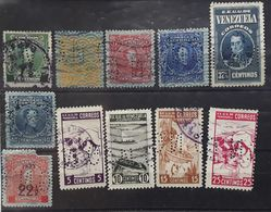 VENEZUELA 1915 - 1938,  11 Timbres Perforés ,  Dont Fond De Sûreté  Obl , Cote 15 Euros - Venezuela