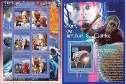 Guinea 2008, Cinema, Arthur Clarke Death, Monkey, Space, 6val In BF +BF - Guinee (1958-...)