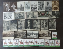LOT De 24 CPA Autour De NAPOLEON + 12 Chromos Figures De L' Empire - Cartes Militaria -  Lire Descriptif - 1 Scan - Historia