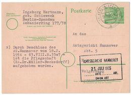 IZ871   Postkarte 1955 - 10 Pf Gebäude, Berlin Spandau Für Hannover - [5] Berlijn