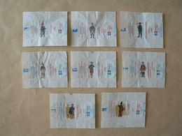 Déstockage FRANCE, 8 Papiers De Sucre, Soldats Du Passé, TB. - Sugars