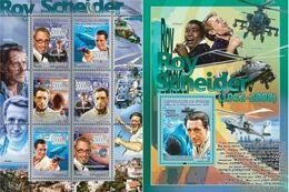 Guinea 2008, Cinema, Roy Scheider, Elicopter, Sharks, 6val In BF +BF - Guinee (1958-...)