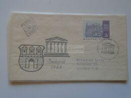 ZA301.3 Hungary FDC  UNESCO  Budapest 1966 - FDC