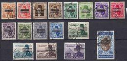 EG099 – EGYPTE – EGYPT – 1953 – 3 BARS OBLITERATED SET – SG # 438-454 USED 16 € - Gebruikt