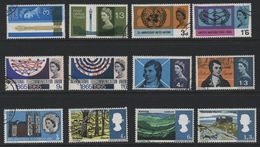 Great Britain(06) 1965-67 Phosphor Used Commemoratives - Gebraucht