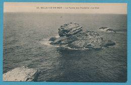 Carte RARE - BELLE-ILE-EN-MER - La Pointe Des Poulains - Le Chat - Belle Ile En Mer