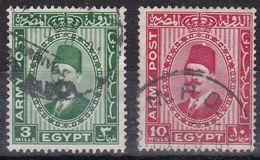 EG955 – EGYPTE – EGYPT – MILITARY STAMPS – 1936 – KING FUAD – Y&T # 1-2 - Gebruikt
