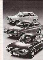 Feuillet De Magazine Audi 50, 80, 100, 1976 - Cars