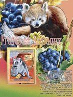 Guinea 2008, Fruits And Animals, Grapes, Roditors, Panda, BF - Guinee (1958-...)