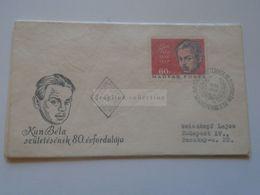 ZA301.9 Hungary FDC  1966   Béla KUN  Communist Leader - FDC