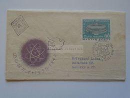 ZA301.10 Hungary FDC  1966    Dubna Nuclear Research Institute  (Estonia Eesti) - FDC
