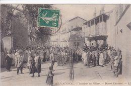ALGERIE FORT NATIONAL Départ De L'Autobus ,intérieur Du Village - Autres Villes