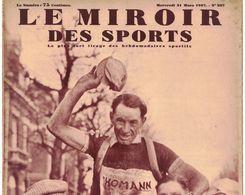 LE MIROIR DES SPORTS 937 1937 ARGENTEUIL CORMEILLES PONTOISE MERU BONNEUIL BRETEUIL DOULLENS SECLIN ARRAS CARVIN ROUBAIX - Livres, BD, Revues