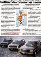 Feuillet De Magazine Audi 50, 80, 100, 1975 - Cars