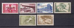 Saarland - 1955 - Michel Nr. 362/367 - Postfrisch/Ungebr. M. Falz - 1947-56 Occupation Alliée