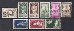 Saarland - 1956 - Michel Nr. 370/378 - Postfrisch/Ungebr. M. Falz - 1947-56 Occupation Alliée