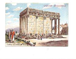 Chromo Temple De Minerve Algérie Algeria Chocolat D'Aiguebelle 105 X 70 Mm TB 2 Scans - Aiguebelle