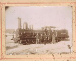 ALGERIE -  Beni Saf . Ancienne Locomotive De La Compagnie De L'Ouest Algérien - Trains