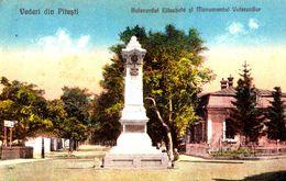 ROMANIA : PITESTI / ARGES : BULEVARDUL ELISABETA Si MONUMENTUL VETERANILOR - EDITURA : JOS. LÖBEL ~ 1928 - RRR ! (af350) - Romania